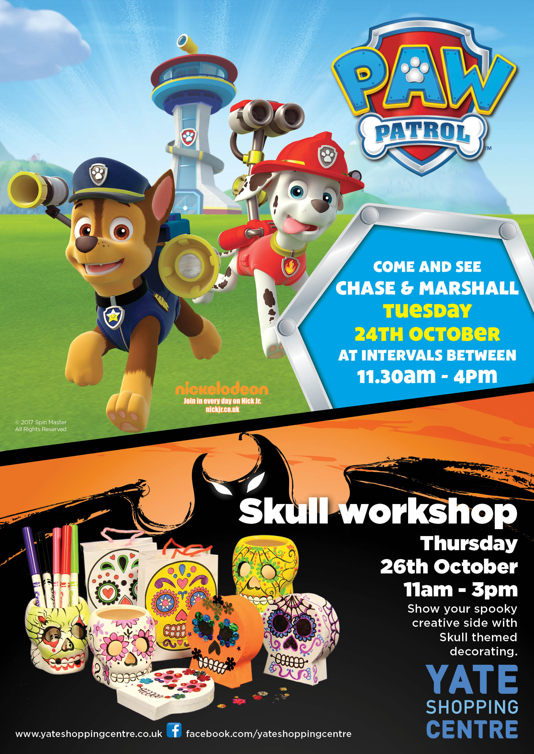 Meet Marshall and Chase from Paw Patrol 24th October 2017