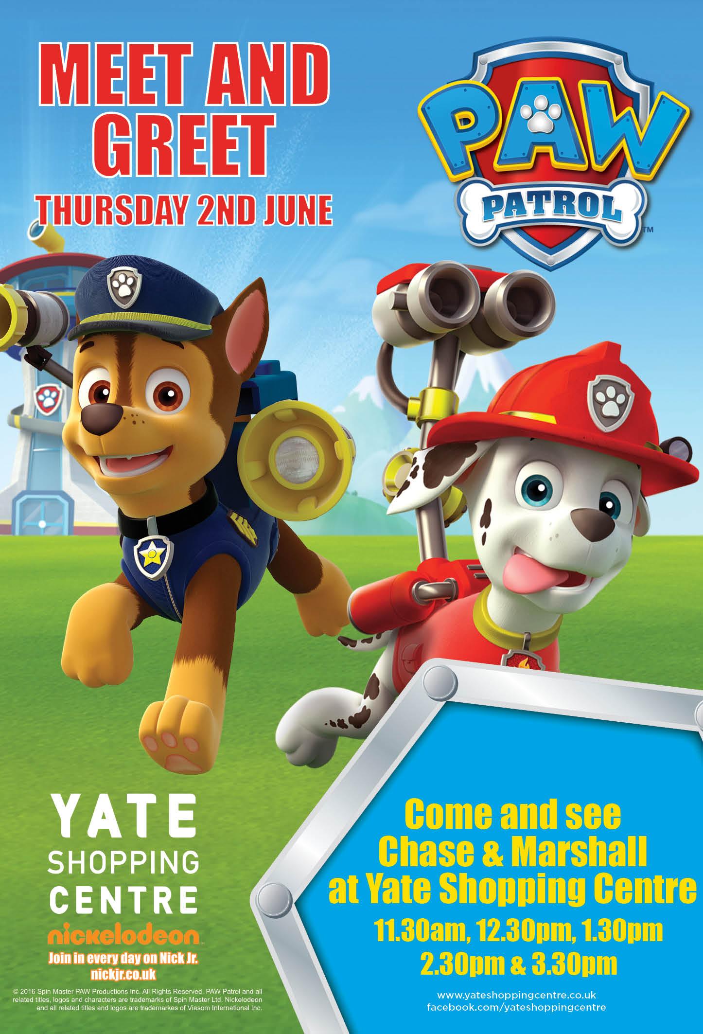 Meet And Greet Paw Patrol 2nd June 2016